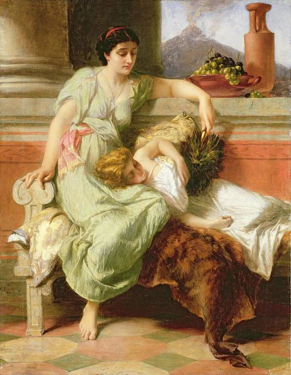 Pompeii Art Print featuring the painting Pompeii by Alfred W Elmore