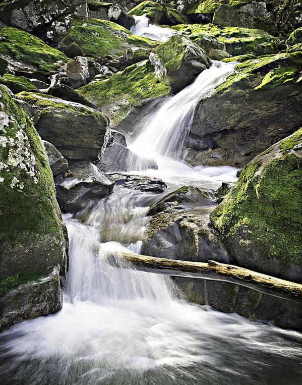 Arkansas Art Print featuring the photograph 0804-0035 Cascade Above Triple Falls by Randy Forrester