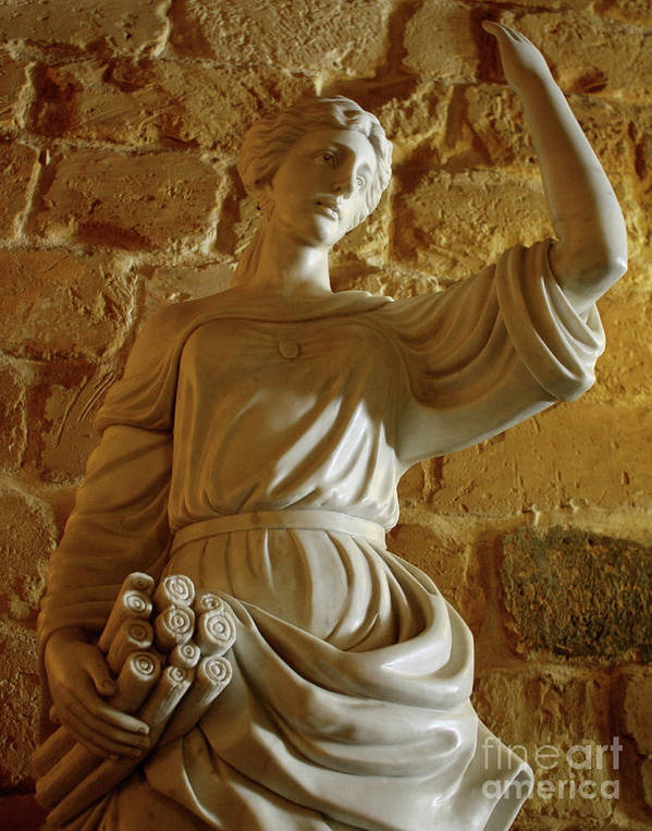 Statue Art Print featuring the photograph Goddess by Denise Wilkins