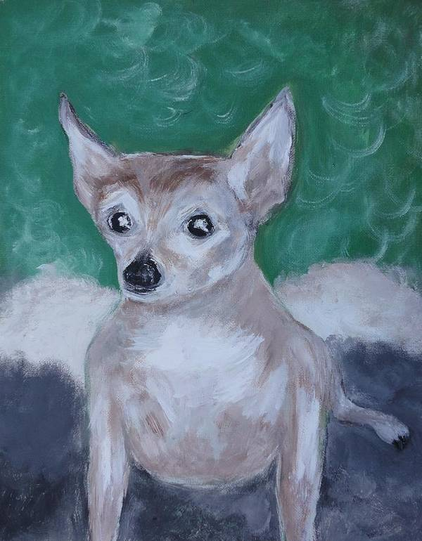 Animal Art Print featuring the painting The Gangsta Dog by Michael Braun