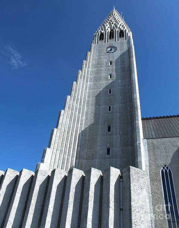 Hallgrimskirkja Art Print featuring the photograph Hallgrimskirkja Church - Reykjavik Iceland by Gregory Dyer