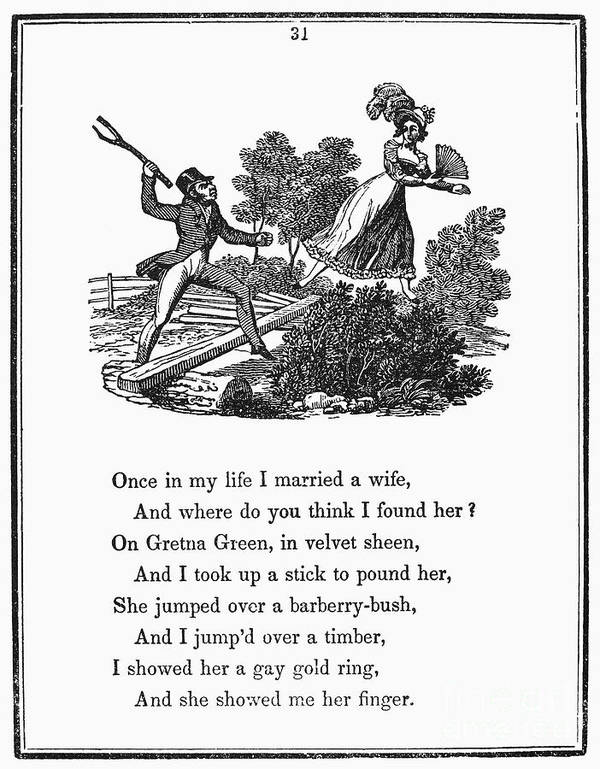 1833 Art Print featuring the photograph Mother Goose, 1833 by Granger