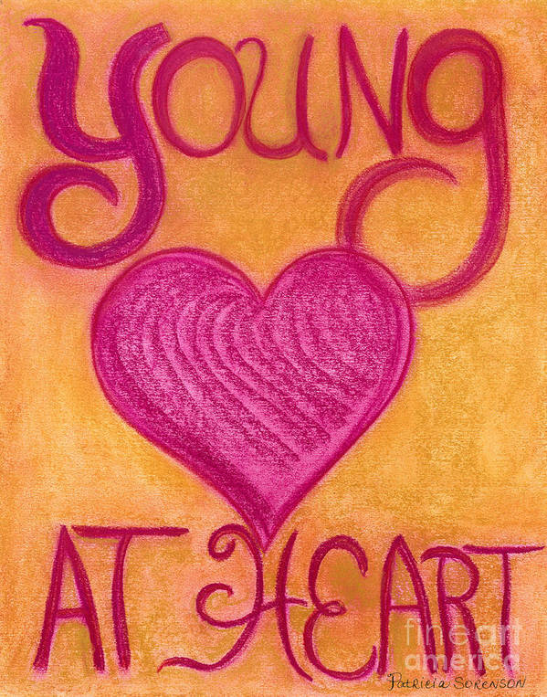 Young Art Print featuring the pastel Artwithheart.com by Patricia 'Amber' Sorenson