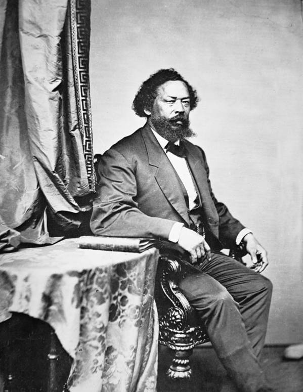Male; Portrait; Seated; Formal; African American; African-american; Black; Negro; Freedman; Ex-slave; Ex Slave; Freed Slave; Republican Congressman; Politician; Politics; #1; Emancipation; Equal Rights; Equality; Emancipated Art Print featuring the photograph Benjamin S Turner by Mathew Brady