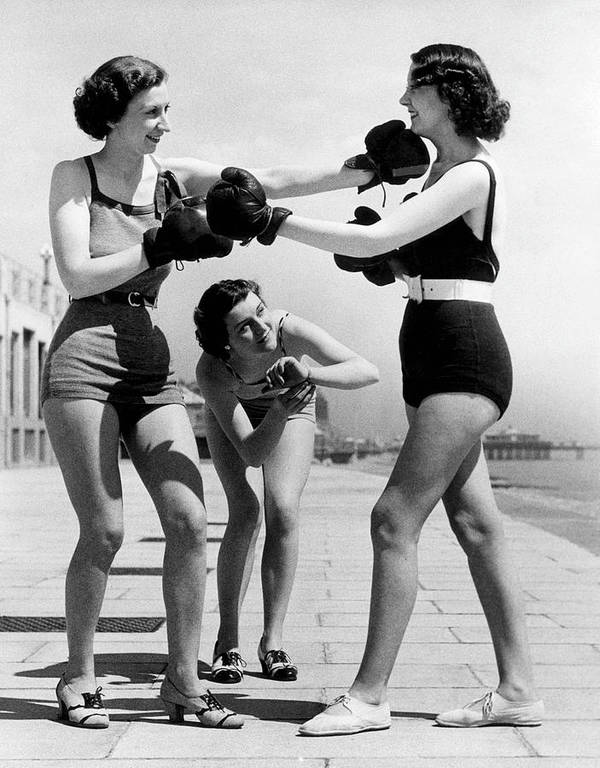Adult Art Print featuring the photograph Boxing On The Prom by William Vanderson