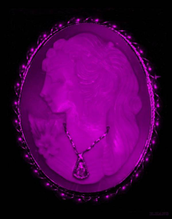 Cameo Art Print featuring the photograph Cameo In Purple by Rob Hans