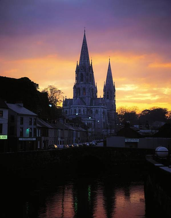 Back Lit Art Print featuring the photograph Church In A Town, Ireland by The Irish Image Collection