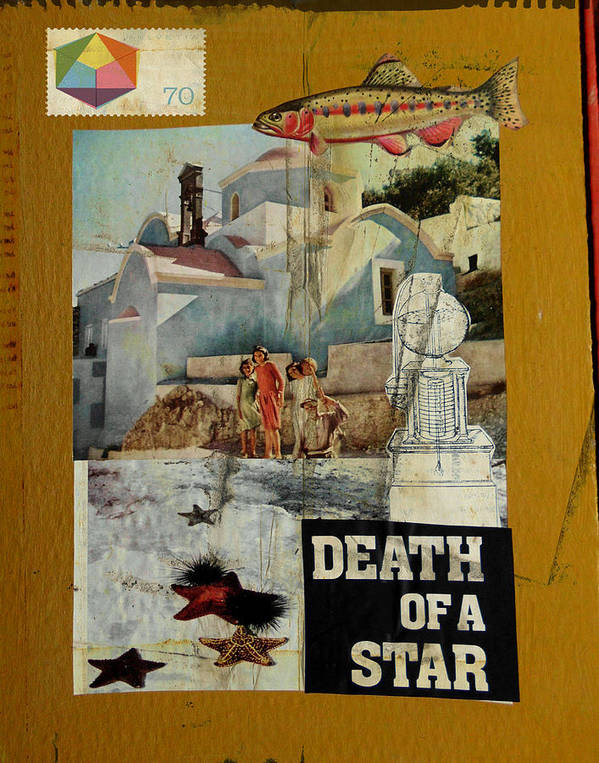 Starfish Art Print featuring the mixed media Death Of A Star by Adam Kissel