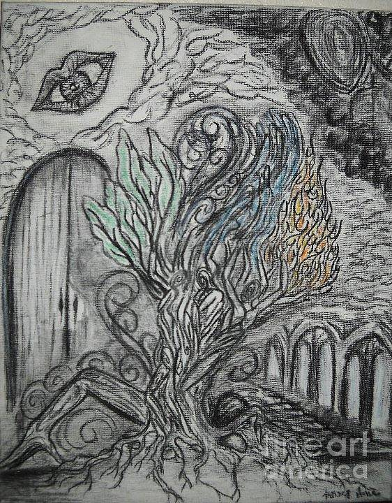 Tree Art Print featuring the drawing Element Tree by Kelsey Anderson