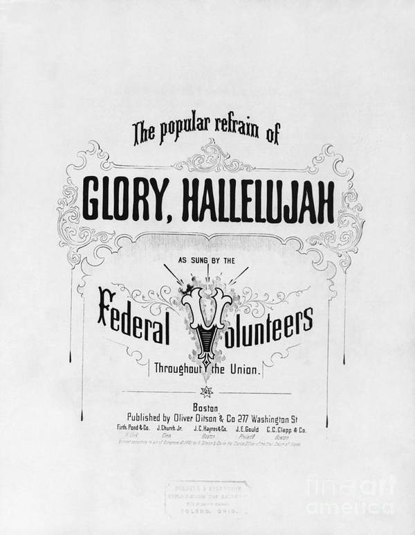 Historical Art Print featuring the photograph Glory, Hallelujah by Photo Researchers