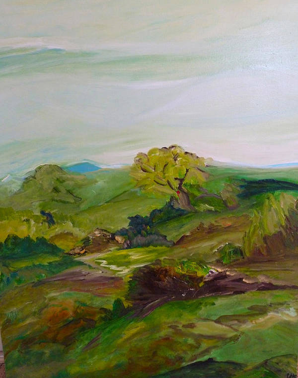 Landscape Art Print featuring the photograph Green Land by Ulla Heckel
