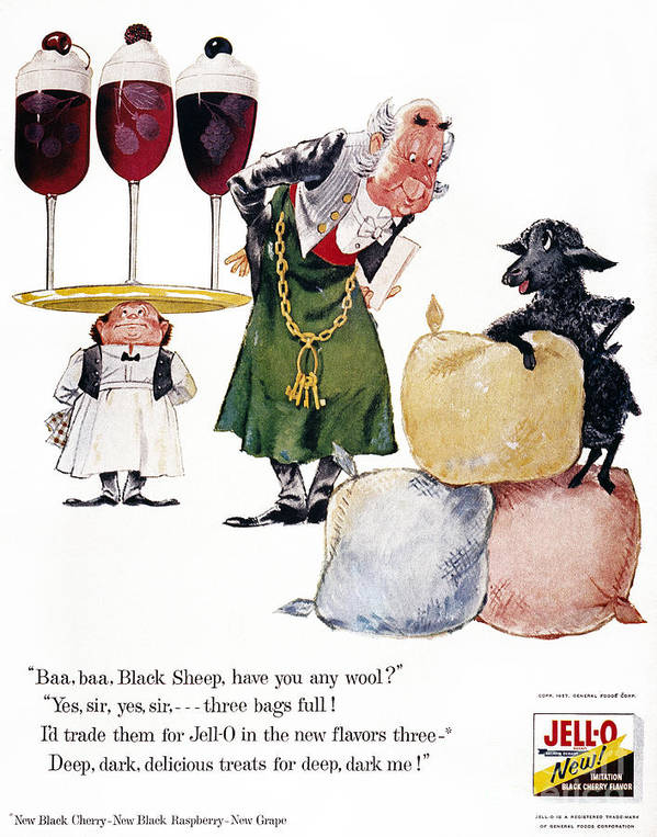 1957 Art Print featuring the photograph Jell-o Advertisement, 1957 by Granger