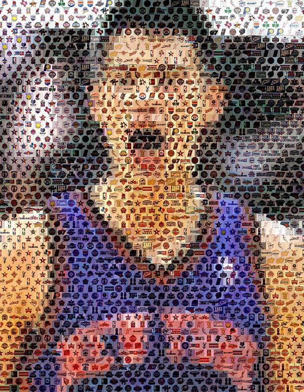 New York Art Print featuring the digital art Jeremy Lin Mosaic by Paul Van Scott
