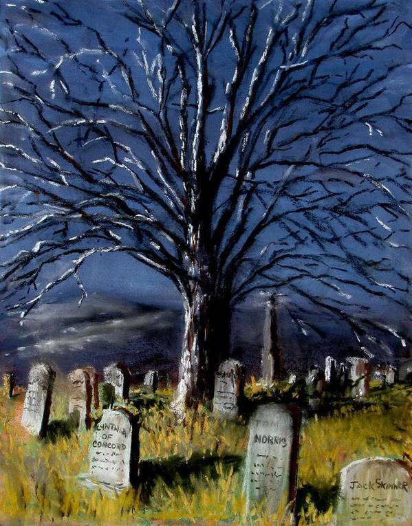 Cemetary Art Print featuring the painting Left Alone by Jack Skinner