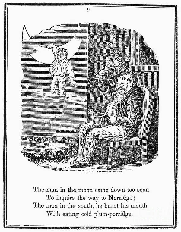 1833 Print featuring the photograph Man In The Moon, 1833 by Granger