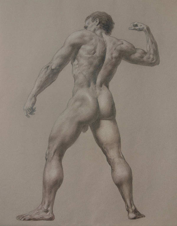 Man Art Print featuring the drawing Nude-8 by Valeriy Mavlo