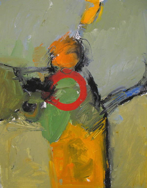Abstract Painting Art Print featuring the painting O Lives Or Olives by Cliff Spohn