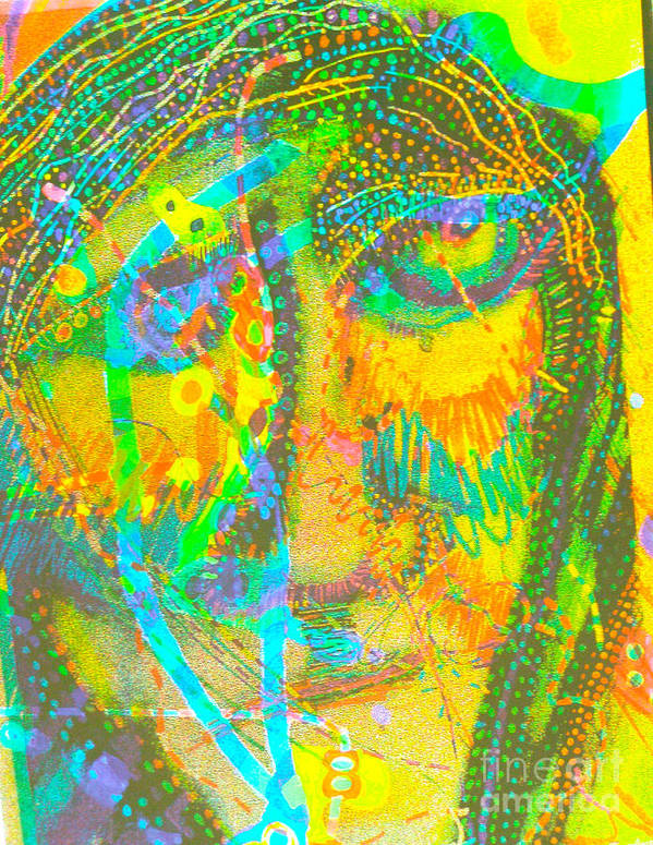 New Image Painting. Art Print featuring the mixed media Pastel Man 27 by Bill Davis
