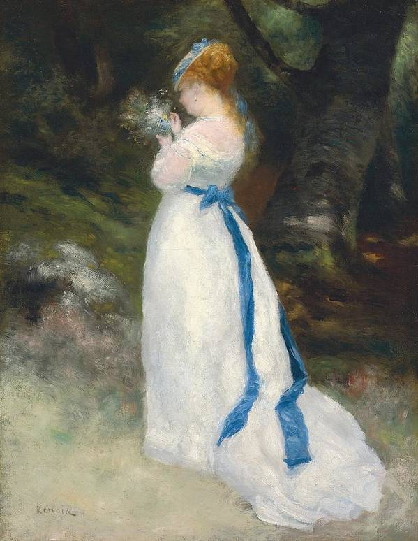 Portrait Of Lise Art Print featuring the painting Portrait Of Lise  by Pierre Auguste Renoir