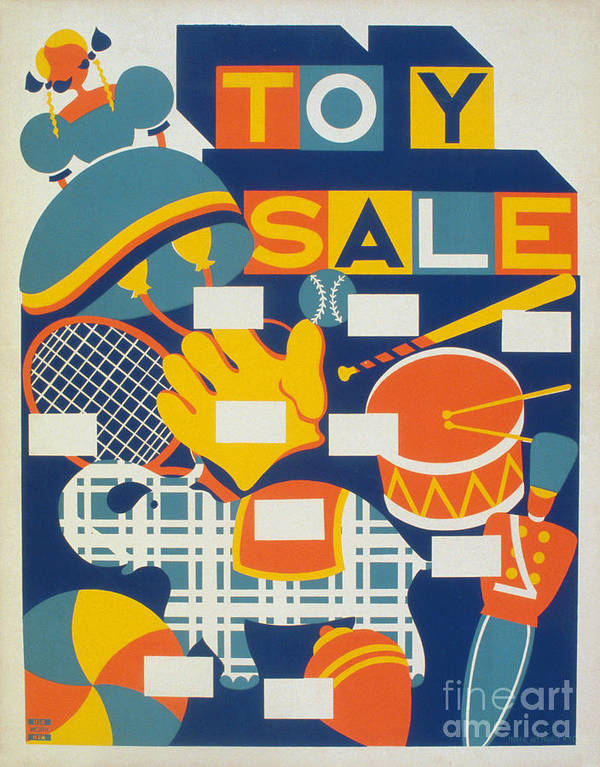 1940 Art Print featuring the photograph Poster: Toys, C1940 by Granger