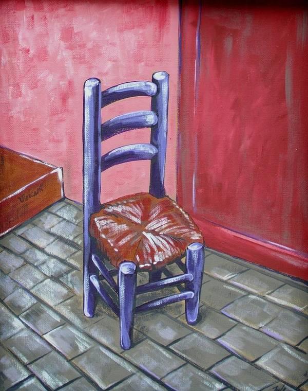 Van Gogh Art Print featuring the painting Purple Vincent by JW DeBrock
