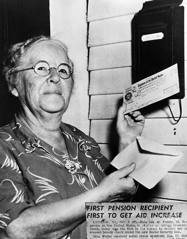 1940 Art Print featuring the photograph Social Security, 1940 by Granger