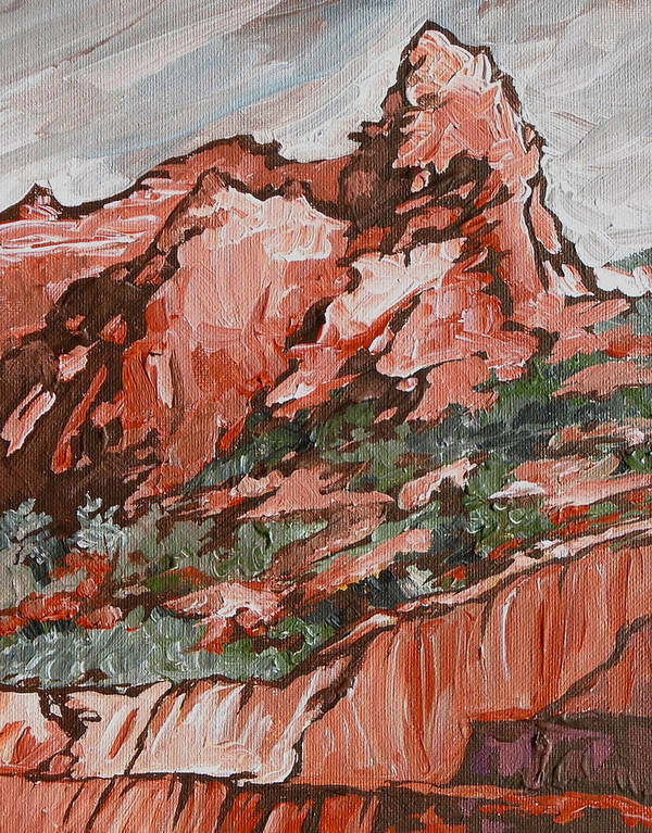 Sedona Art Print featuring the painting Soldiers Pass Trail by Sandy Tracey