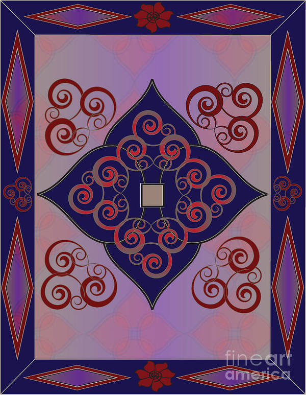 Blue Art Print featuring the digital art Spades by Cathy Szalai