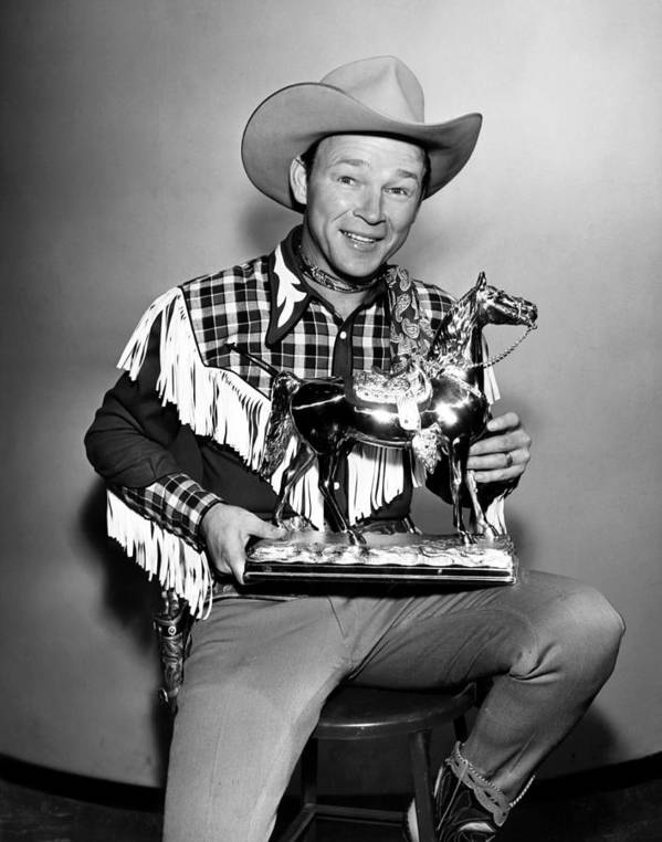 1950s Portraits Art Print featuring the photograph The Roy Rogers Show, Roy Rogers by Everett