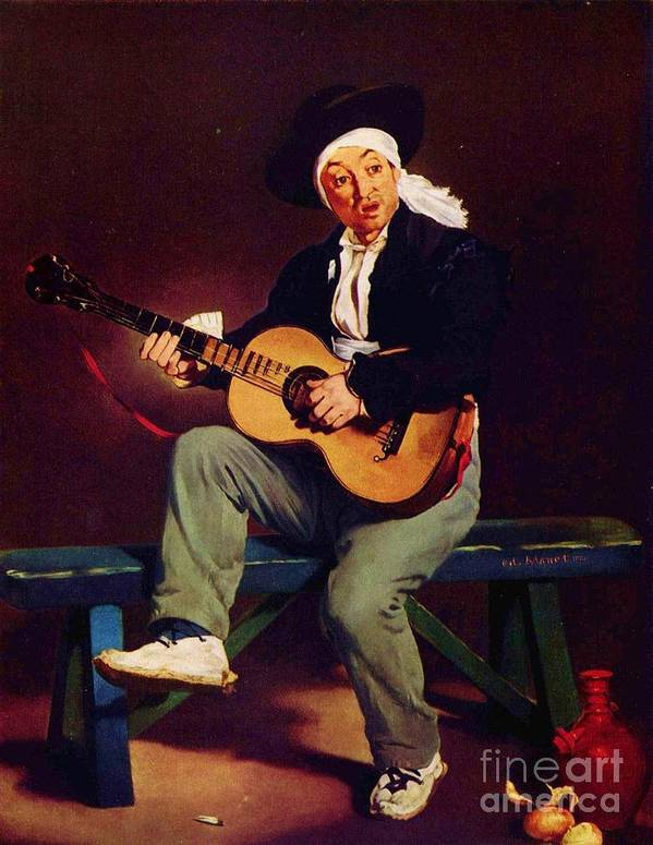 Pd Art Print featuring the painting The Spanish Singer by Pg Reproductions