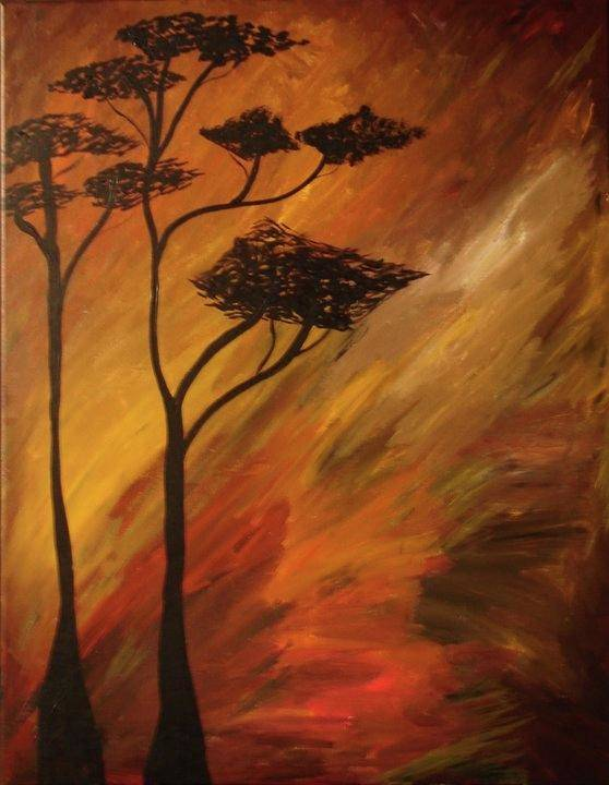 Art Print featuring the painting Timbers by Jazmine Gallery