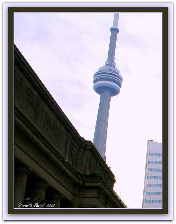 Architecture Art Prints Art Print featuring the photograph Toronto Cn Tower Canada by Danielle Parent