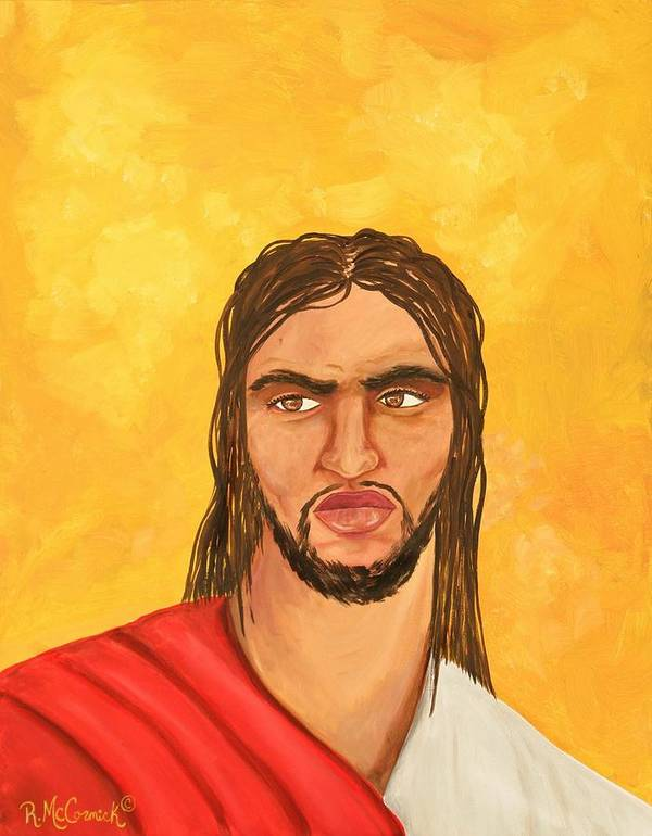 Jesus Art Print featuring the painting ''what Would Jesus Do'' by Mccormick Arts