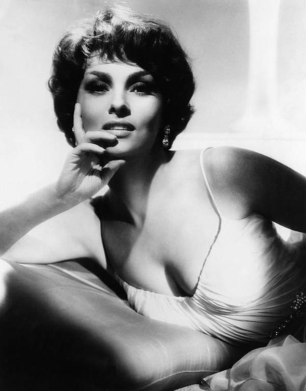 1960s Portraits Art Print featuring the photograph Gina Lollobrigida, Ca. Early 1960s by Everett