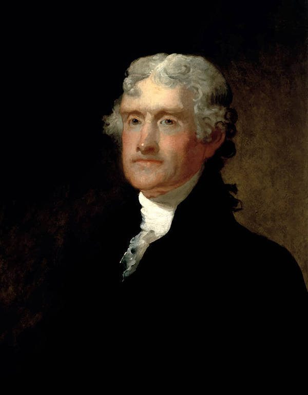 Thomas Jefferson Art Print featuring the painting President Thomas Jefferson by War Is Hell Store