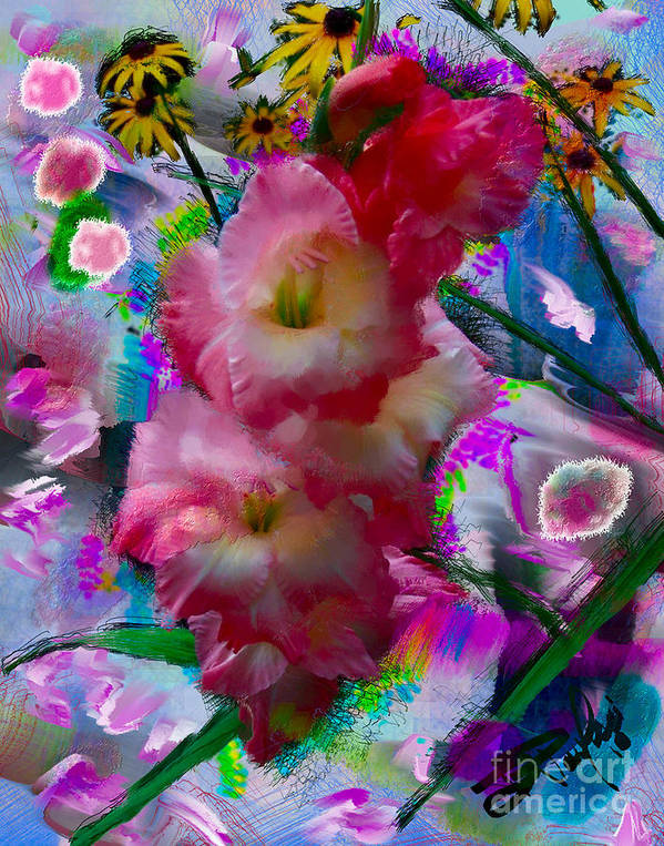 Floral Art Print featuring the painting 3268.1 by Donald Pavlica
