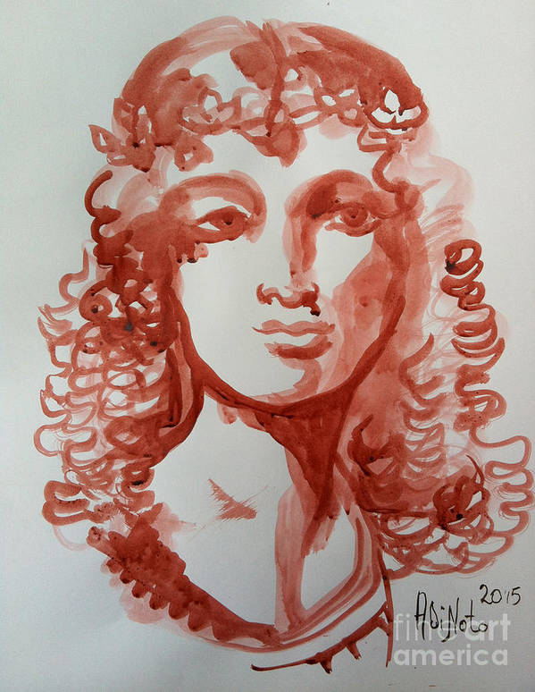 Art Print featuring the painting Portrait 7 by Alessandra Di Noto