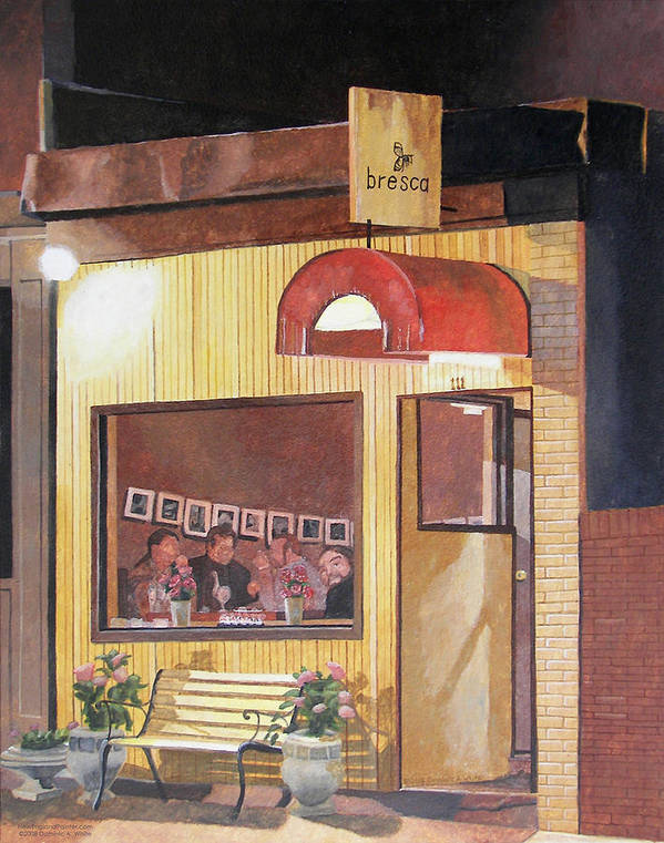 Restaurant Art Print featuring the painting A Night At Bresca by Dominic White