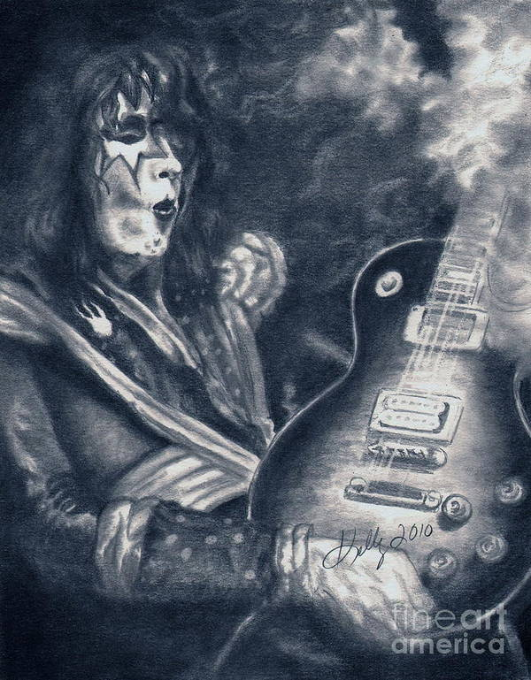Kiss Art Print featuring the drawing ACE by Kathleen Kelly Thompson