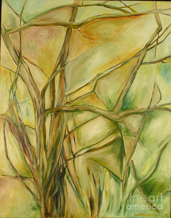 Trees Abstract Green Art Print featuring the painting Agile Green by Leila Atkinson