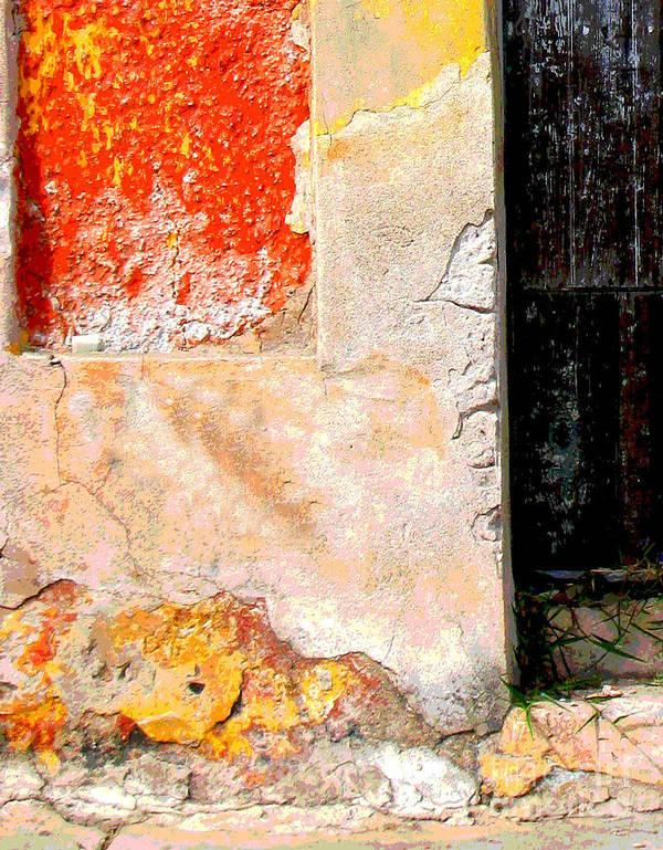 Michael Fitzpatrick Art Print featuring the photograph Ancient Wall 4 By Michael Fitzpatrick by Mexicolors Art Photography