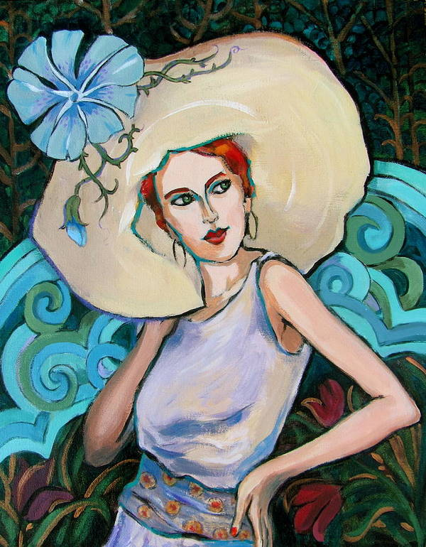 Portrait Art Print featuring the painting Art Nouveau by Dianna Willman