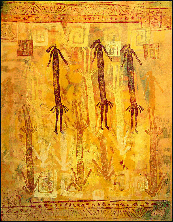 Ethnic Art Print featuring the painting Ascendants And Descendants by Dale Witherow