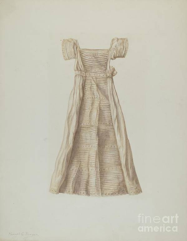 Art Print featuring the drawing Baby Dress by Manuel G. Runyan