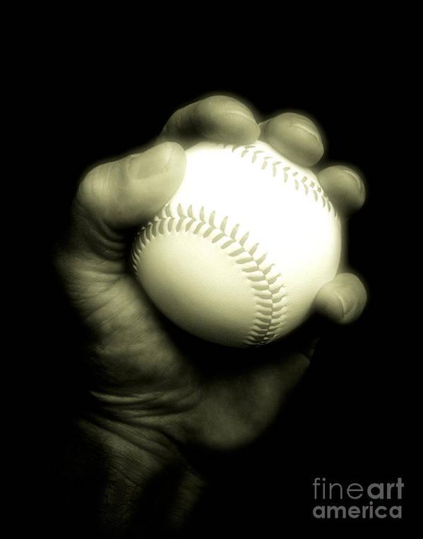 Baseball Art Print featuring the photograph Baseball 2 by Emilio Lovisa