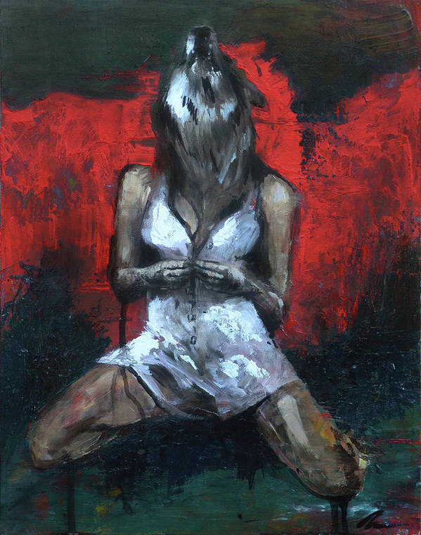 Wolf Art Print featuring the painting Beast II by Melissa Peterson