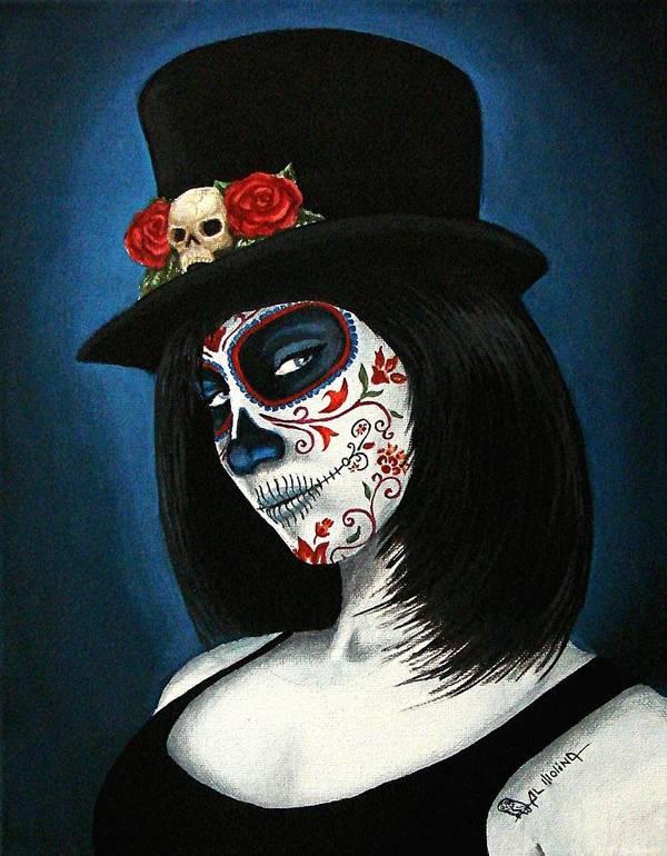 Dia De Los Muertos Art Print featuring the painting Bella Muerte by Al Molina
