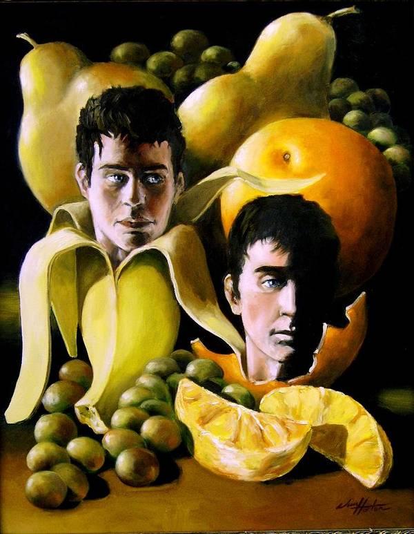 Fruit Art Print featuring the painting Birthing Fruit by Jim Horton