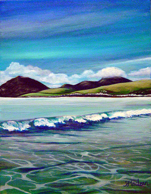 Contemporary Landscape Art Print featuring the painting Blue Wave by Stephanie Maclean