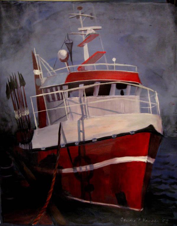 Fishing Art Print featuring the painting Bold Power by Art Nomad Sandra Hansen